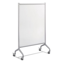 Safco® Rumba Full Panel Whiteboard Collaboration Screen, 42 x 54, White/Gray