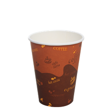 12oz Karat Hot Cups (1000 pcs/ctn, Generic Print)