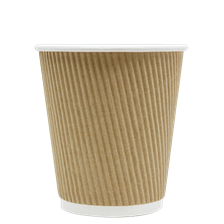 10 oz Ripple Hot Paper Cup (Kraft)