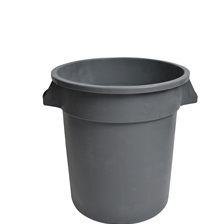 10 Gal. Round Garbage Container Grey