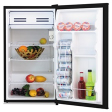 Alera® 3.3 Cu. Ft. Refrigerator with Chiller Compartment, Black