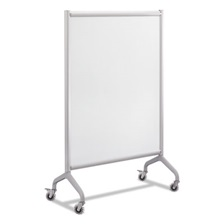 Safco® Rumba Full Panel Whiteboard Collaboration Screen, 36 x 54, White/Gray