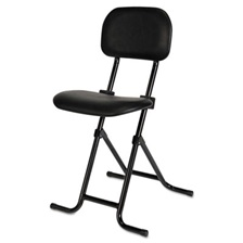 Alera Plus™ IL Series Height-Adjustable Folding Stool, Black