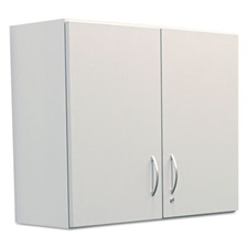 Alera Plus™ Hospitality Wall Cabinet, Two Doors, 36w x 14 3/16d x 29 3/4h, Gray