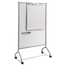 Safco® Impromptu Magnetic Whiteboard Collaboration Screen, 42w x 21 1/2d x 72h, Gray
