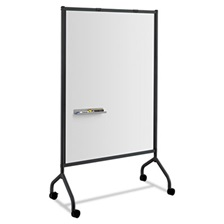 Safco® Impromptu Magnetic Whiteboard Collaboration Screen, 42w x 21 1/2d x 72h, Black