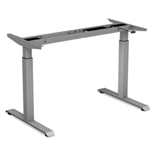 "Alera® 2-Stage Electric Adjustable Table Base, 27 1/2"" to 47 1/4"" High, Gray"