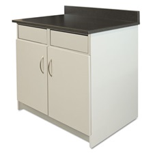 Alera Plus™ Hosp Base Cabinet, 2 Door/2 Flipper Doors, 36 x 24 3/4 x 40, Gray/Granite Nebula
