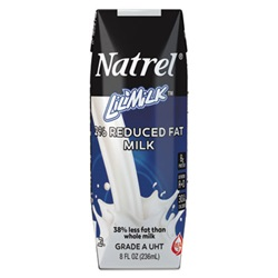 Natrel® Milk, 2% Reduced Fat Milk, 8 oz Tetra Pack, 18/Carton