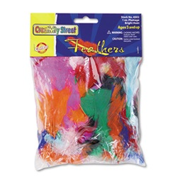 Creativity Street® Bright Hues Feather Assortment, Bright Colors, 1 oz Pack