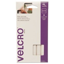 Velcro® Sticky Fix Tak, 6 Bars/Pack, White