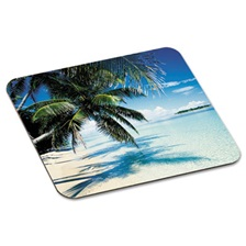 "3M™ Mouse Pad with Precise Mousing Surface, 9"" x 8"" x 1/8"", Beach Design"