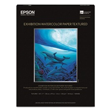 Epson® Exhibition Textured Watercolor Paper, 8 1/2 x 11, White