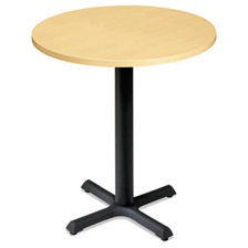 "HON® Self-Edge Round Hospitality Table Top, 30"" Diameter, Natural Maple"