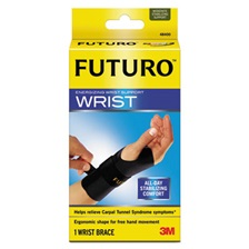 "FUTURO™ Energizing Wrist Support, S/M, Fits Right Wrists 5 1/2""-6 3/4"", Black, 12/Carton"