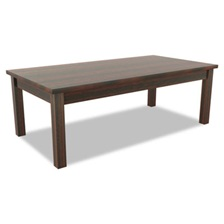 Alera® Alera Valencia Series Occasional Table, Rectangle,47-1/4 x 20 x 16 3/8, Mahogany