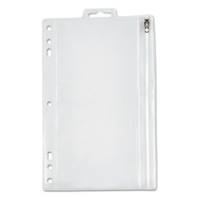 Oxford™ Zippered Ring Binder Pocket, 9 1/2 x 6, Clear