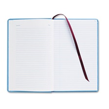 Adams® Record Ledger Book, Blue Cloth Cover, 150 7 1/4 x 11 3/4 Pages