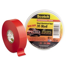 "3M™ Scotch 35 Vinyl Electrical Color Coding Tape, 3/4"" x 66ft, Red"