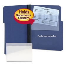 Smead® Self-Adhesive Poly Pockets, Top Load, 9 x 5-9/16, Clear, 100/Box