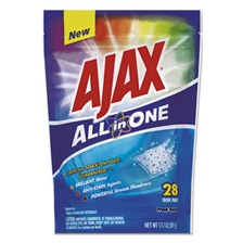 Ajax® All in One Automatic Dish Detergent Pacs, Fresh Scent, 28/Pack, 5 Pack/Carton