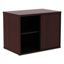 Alera® Alera Open Office Low Storage Cab Cred, 29 1/2w x 19 1/8d x 22 7/8h, Mahogany