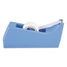"Scotch® Desktop Tape Dispenser, 1"" Core, Weighted Non-Skid Base, Periwinkle"