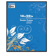 DAX® Coloredge Poster Frame, Clear Plastic Window, 16 x 20, Black