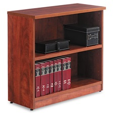 Alera® Alera Valencia Series Bookcase, Two-Shelf, 31 3/4w x 14d x 29 1/2h, Med Cherry