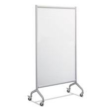 Safco® Rumba Full Panel Whiteboard Collaboration Screen, 36 x 66, White/Gray