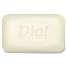 Dial® Antibacterial Deodorant Bar Soap, Floral, Unwrapped, White, 1.5 oz