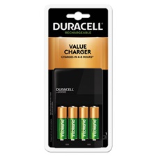 Duracell® ION SPEED 1000 Advanced Charger, Includes 4 AA NiMH Batteries