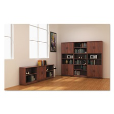 Alera® Alera Valencia Series Bookcase, Six-Shelf, 31 3/4w x 14d x 80 3/8h, Med Cherry