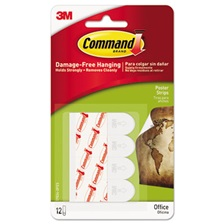 Command™ Poster Strips Value Pack, White, 48/Pack