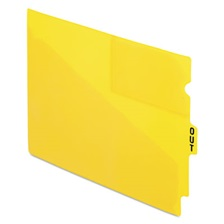 "Pendaflex® End Tab Poly Out Guides, Center ""OUT"" Tab, Letter, Yellow, 50/Box"