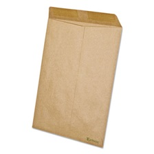 Ampad® Earthwise by Ampad 100% Recycled Paper Catalog Envelope, 9 x 12, Kraft, 110/BX