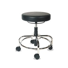 Alera Plus™ HL Series Height-Adjustable Utility Stool, Black