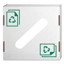 Bankers Box® Waste and Recycling Bin Lid, Paper, White, 10/Carton