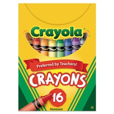Crayola® Classic Color Crayons, Tuck Box, 16 Colors