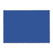 Hoffmaster® Solid Color Scalloped Edge Placemats, 9 1/2 x 13 1/2, Navy Blue, 1000/Carton