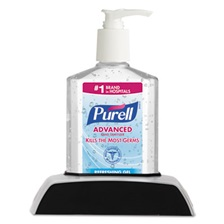 PURELL® Desktop Dispenser Caddy Kit, w/Pump Bottle, 8oz, 12/Carton