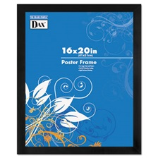 DAX® Black Solid Wood Poster Frames w/Plastic Window, Wide Profile, 16 x 20