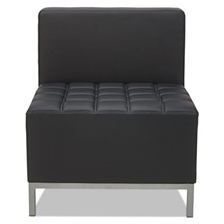 Alera® Alera QUB Series Armless L Sectional, 26 3/8 x 26 3/8 x 30 1/2, Black
