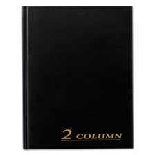 Adams® Account Book, 2 Column, Black Cover, 80 Pages, 7 x 9 1/4