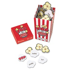 "Learning Resources® POP for Sight Word Game, Red/White, 100 Popcorn Cards, 3""L x 3""W x 6.25""H"