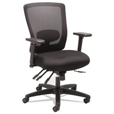 Alera® Alera Envy Series Mesh Mid-Back Multifunction Chair, Black