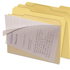 find It™ Clear View Interior File Folders, 1/3 Cut Top Tab, Letter, Manila, 8/Pack