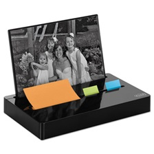 "Post-it® Pop-up Notes Super Sticky Pop-up Note/Flag Dispenser Plus Photo Frame with 3 x 3 Pad, 50 1"" Flags, Black"