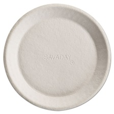 Chinet® Savaday Molded Fiber Plates, 10 Inches, White, Round