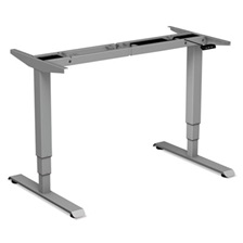 "Alera® AdaptivErgo 3-Stage Electric Table Base w/Memory Controls, 25"" to 50 3/4"", Gray"